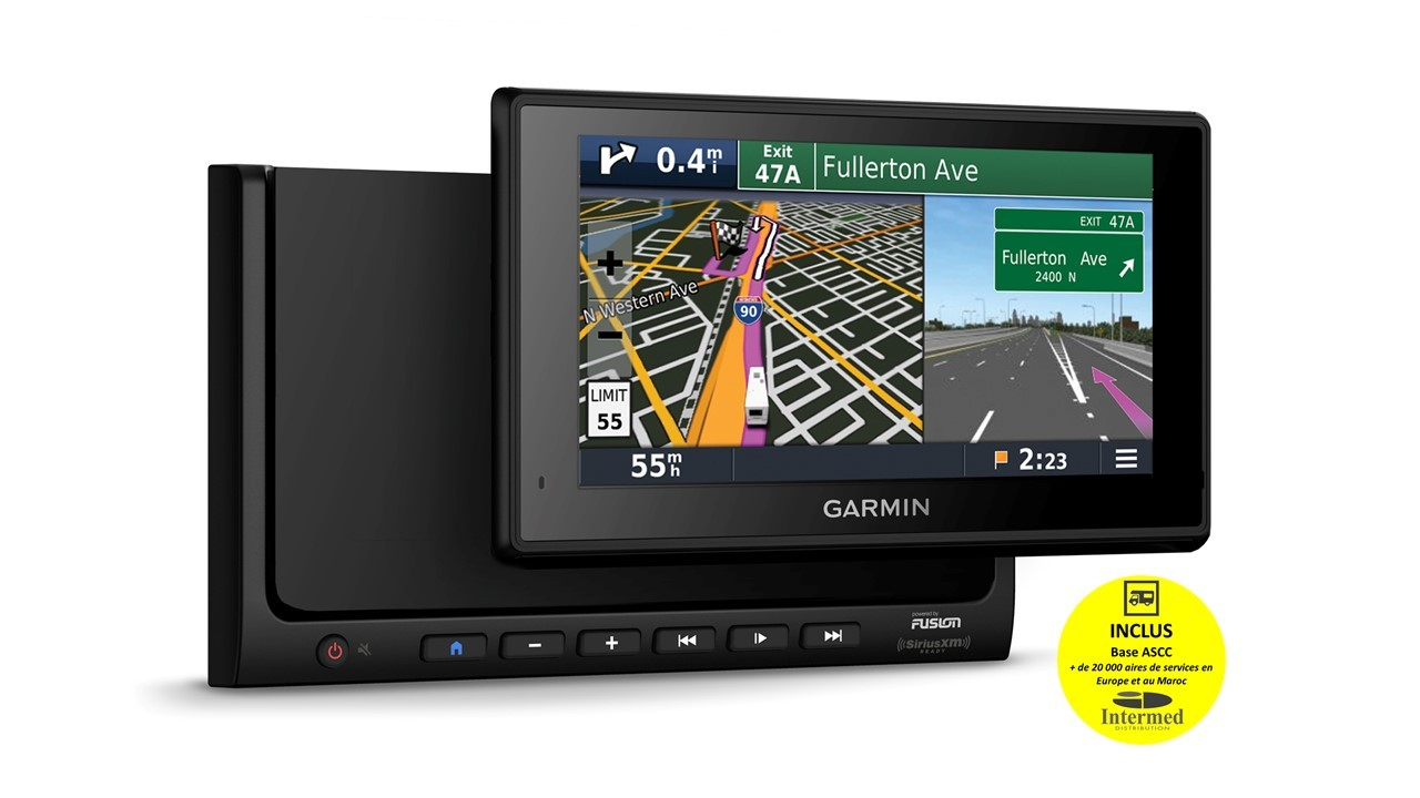 CENTRALE INFOTAINMENT CAMPING-CAR FUSION-GARMIN PACK RVBBT-602 DUC