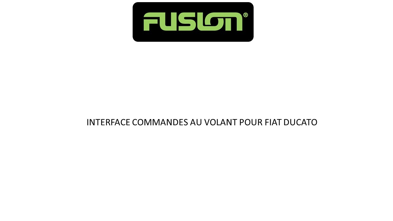 INTERFACE COMMANDES AU VOLANT POUR FIAT DUCATO