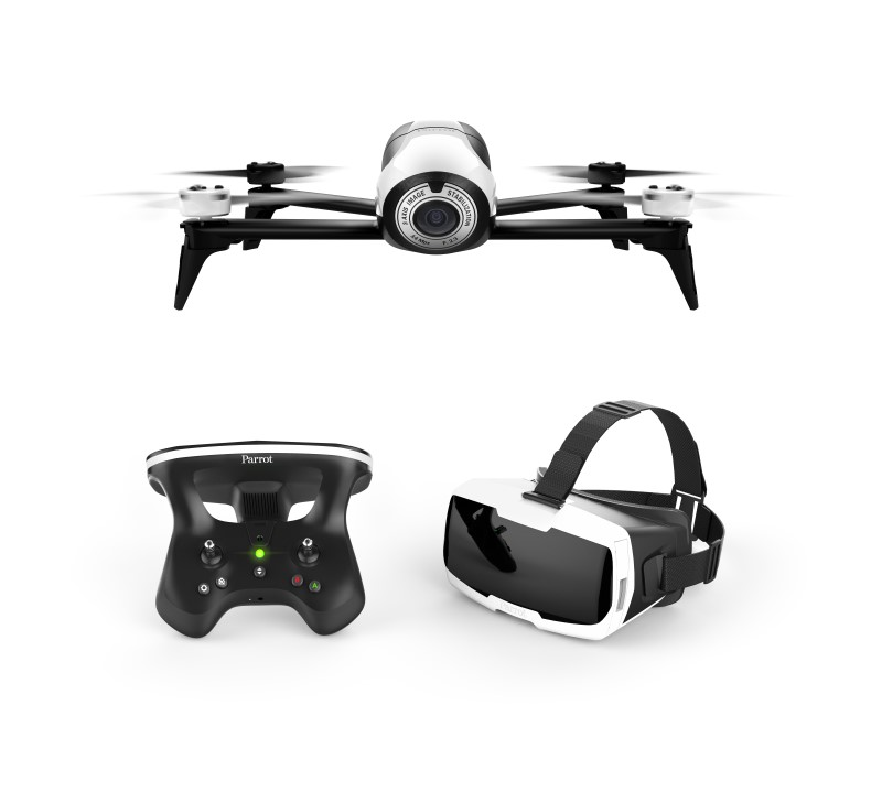 DRONE PARROT BEBOP 2 + SKYCONTROLLER 2 + LUNETTE FPV