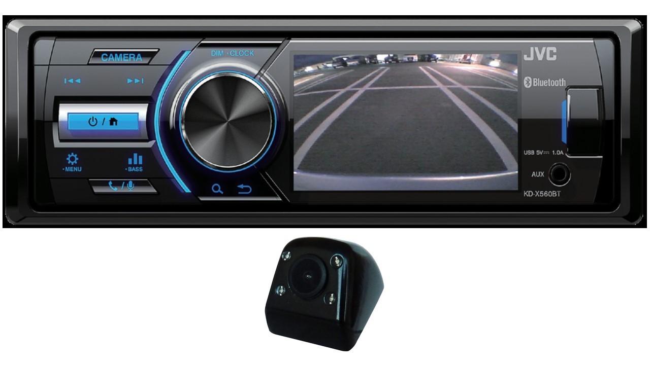 AUTORADIO JVC KD-X560BT + CAMERA DE RECUL IDCAM120FB